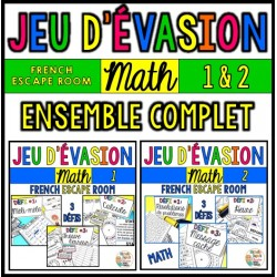 Jeu d'évasion - MATH - BUNDLE - French Escape Room