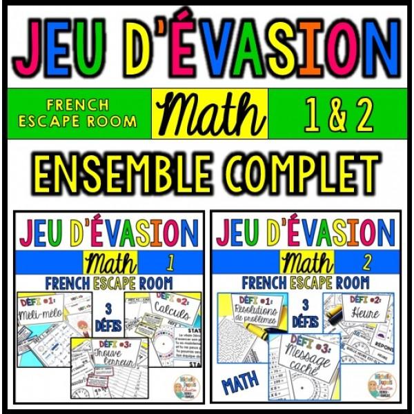 Jeu d'évasion - MATH - BUNDLE - French Escape Room