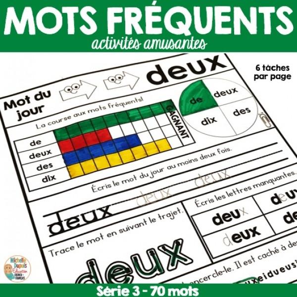 Mots fréquents -  Série 3