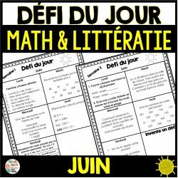 Défi du jour - Math et Littératie