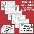 Activités pour la Rentrée Scolaire (Carnet)