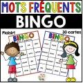 Bingo de mots fréquents