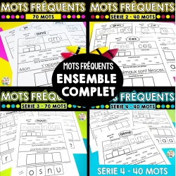 Mots fréquents - Série 1-2-3-4  Ensemble complet