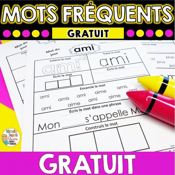 Mots fréquents - GRATUIT