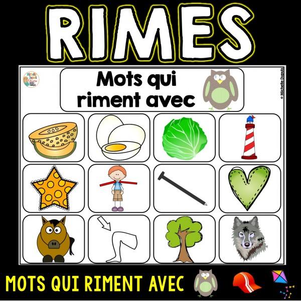 Mots qui riment (sons ette, ou, an)