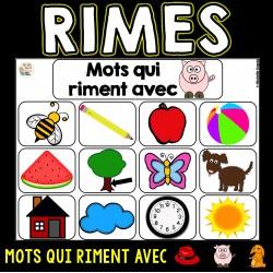 Mots qui riment (sons on, in et au)