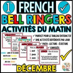 Activités du matin Décembre - 1re année