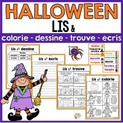 Halloween - Activités de lecture