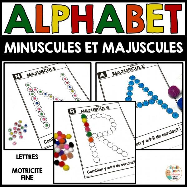 Lettres de l'alphabet - minuscules et majuscules