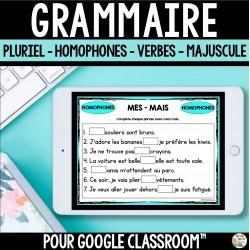 Grammaire pour utilisation dans Google Classroom™