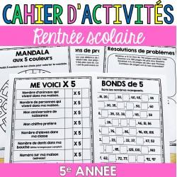 Cahier d'activités - Rentrée scolaire - 5e année