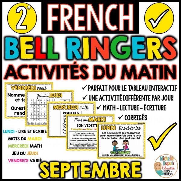 Activités du matin - 2e année - Septembre