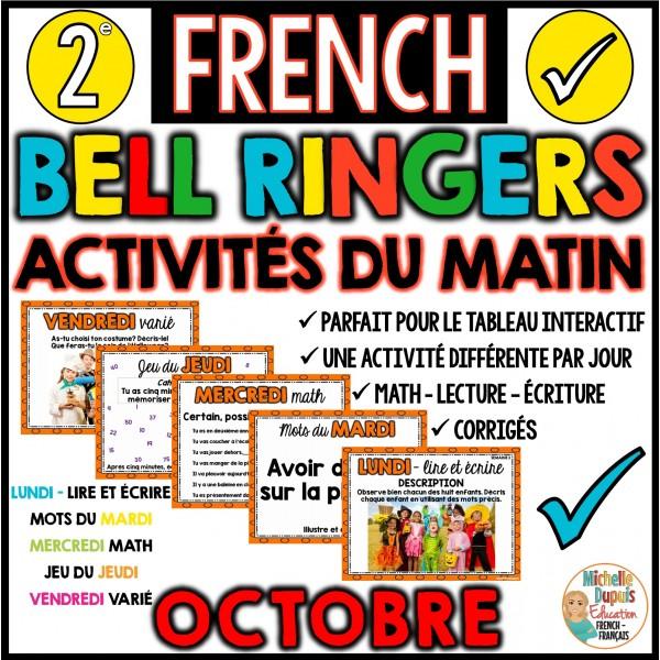 Activités du matin - 2e année - Octobre