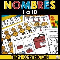 Nombres 1 à 10 - Thème de construction