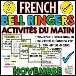 Activités du matin - 2e année - Novembre