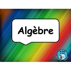 Algèbre (isoler la variable)