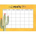 Calendriers mensuels vides et modifiables Cactus