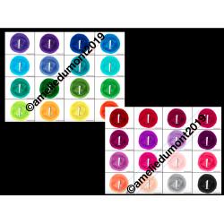 Étiquettes numéros modifiables Couleurs