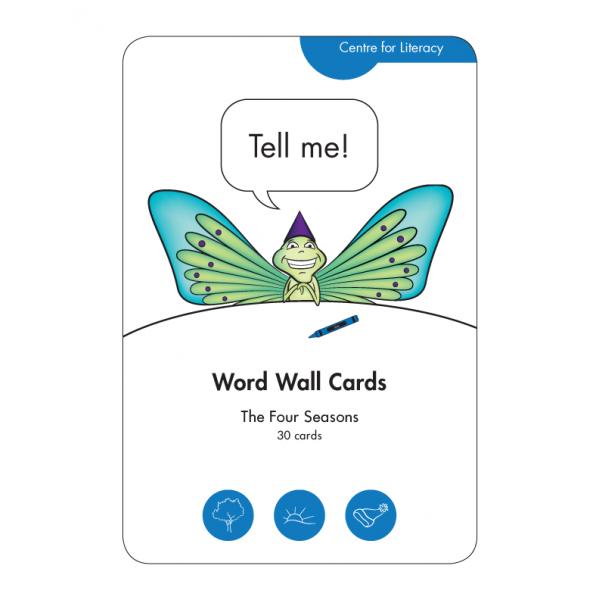 Word Wall Cards: Four Seasons
