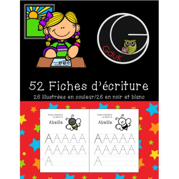 52 Fiches d'écriture