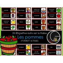 LES POMMES (étiquettes-mots)