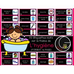 L'HYGIÈNE (étiquettes-mots)