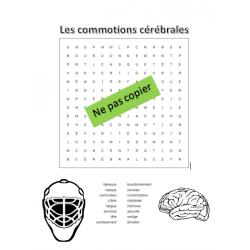 Mots cachés - Les commotions cérébrales