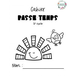 Cahier passe-temps 2e cycle