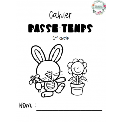 Cahier passe-temps 1er cycle