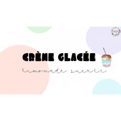 Crème glacée, limonade sucrée