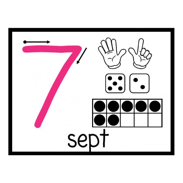 Affiche des nombres 0 à 20 grand format