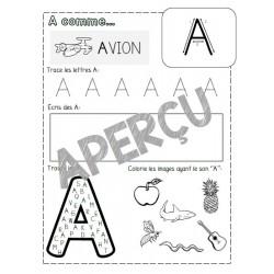 Fiches lettres alphabet Majuscule SEULEMENT