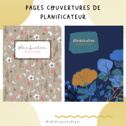 Pages couvertures agenda
