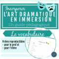 L'art dramatique: Partie 4 Le vocabulaire