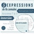 5 expressions de la semaine
