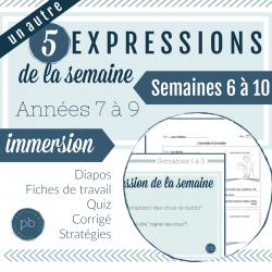 5 expressions de la semaine (semaines 6 à 10)