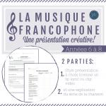 La musique francophone: Présenter une chanson