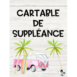 Couverture de cartable de suppléance