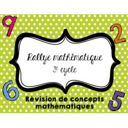Rallye mathématique - 3e cycle