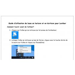 Guide d'utilisation Lexibar