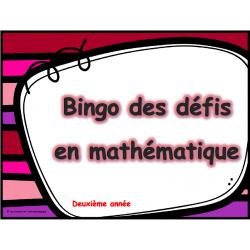 Bingo des défis en mathématique 2e année