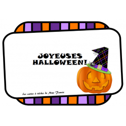 Cartes à tâches de lecture et écriture - Halloween