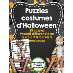 Puzzles des costumes d'Halloween