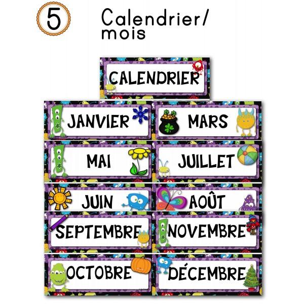 Les monstres (calendrier/mois)