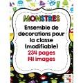 Décorations de classe sur les monstres