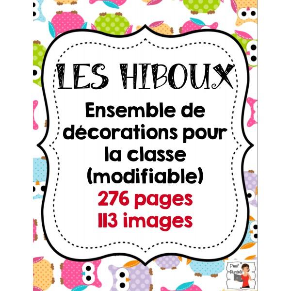 Décorations de classe/HIBOUX
