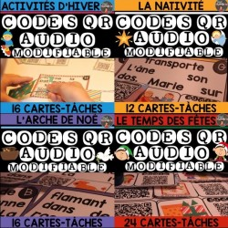 Codes QR - 4 Kits de Cartes-Tâches AUDIO