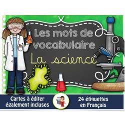 Mots-étiquettes/LA SCIENCE