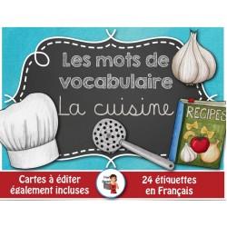 Mots-étiquettes/LA CUISINE