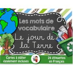 Jour de la Terre/Mots de vocabulaire